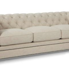 Tufted Leather Sofa Edmonton Tribeca Urban Barn Hudson Living Room Kingston Linen 419440 Finesse