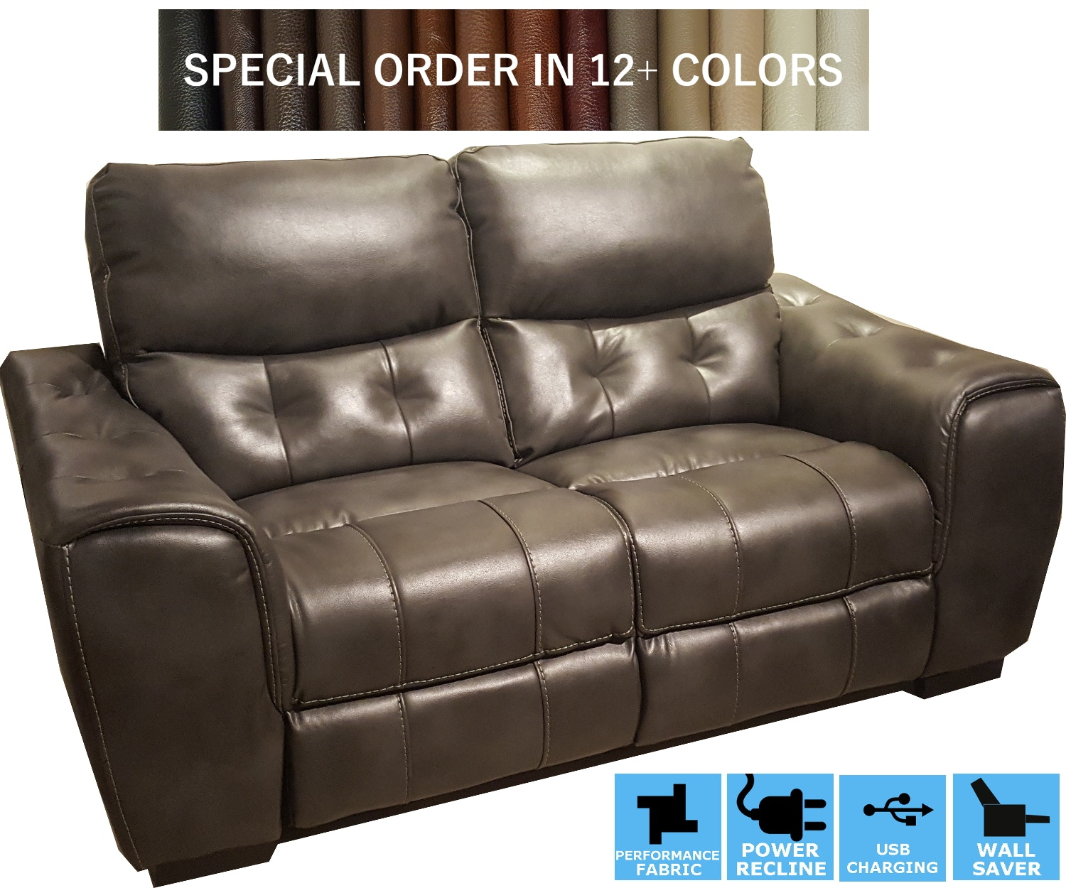 power recliner sofa canada extra large corner sofas finesse motion living room trevisio recline loveseat