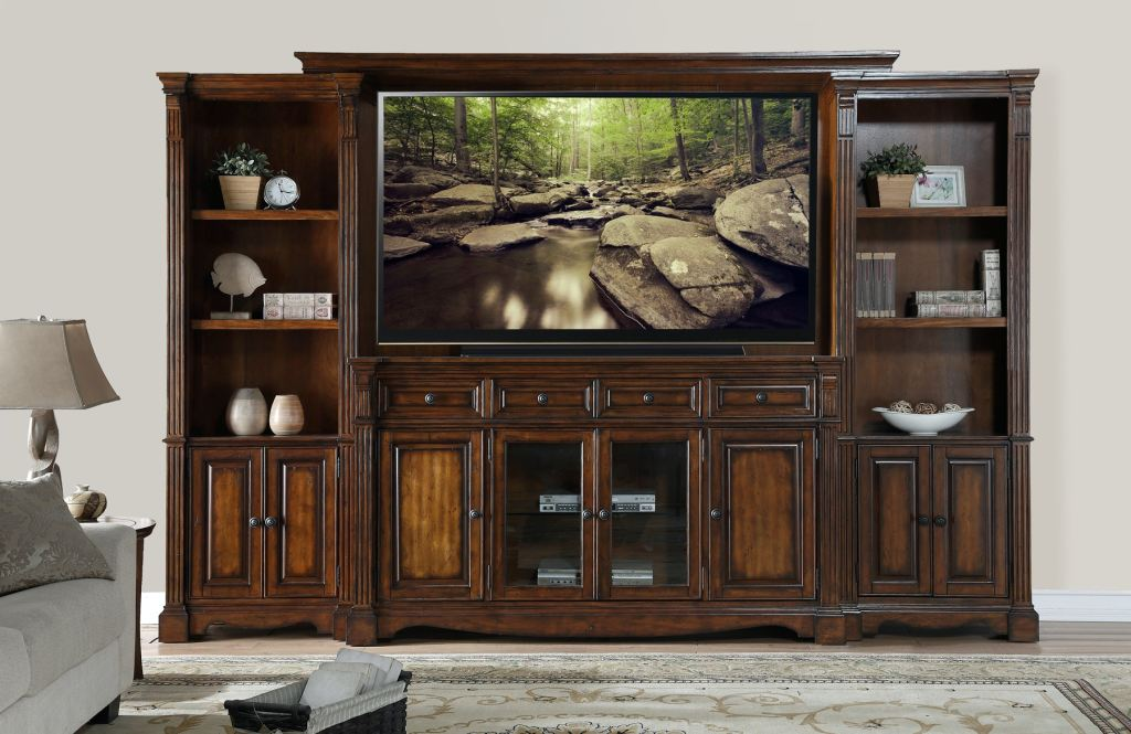 Legends Furniture Living Room Ortiz Wall Unit 55 HDTV FREE
