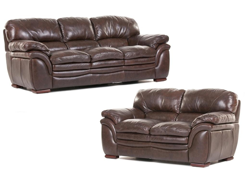 Futura Living Room Santa Cruz Leather Sofa And Loveseat