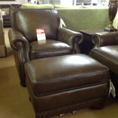 Leather Living Room Furniture Clearance Decor Blue And Grey Craftmaster Chair Ottoman Pclr At Ramsey Company