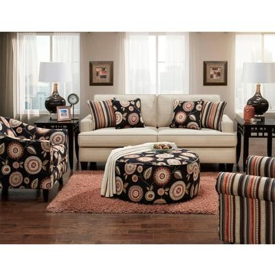 chairs with ottomans for living room fold out chair bed kids fusion sofa accent ottoman pkg f301 at furnitureland