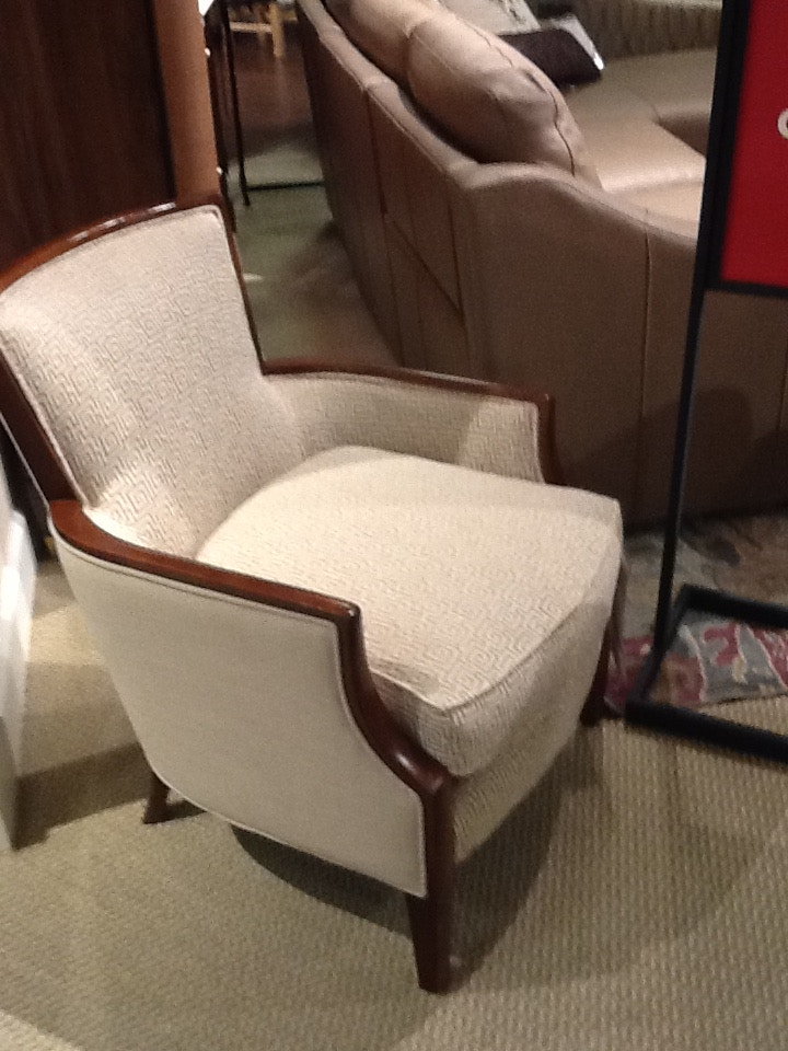 wood frame accent chairs ikea tullsta chair cover clearance handsome textured geometric msrp 1699