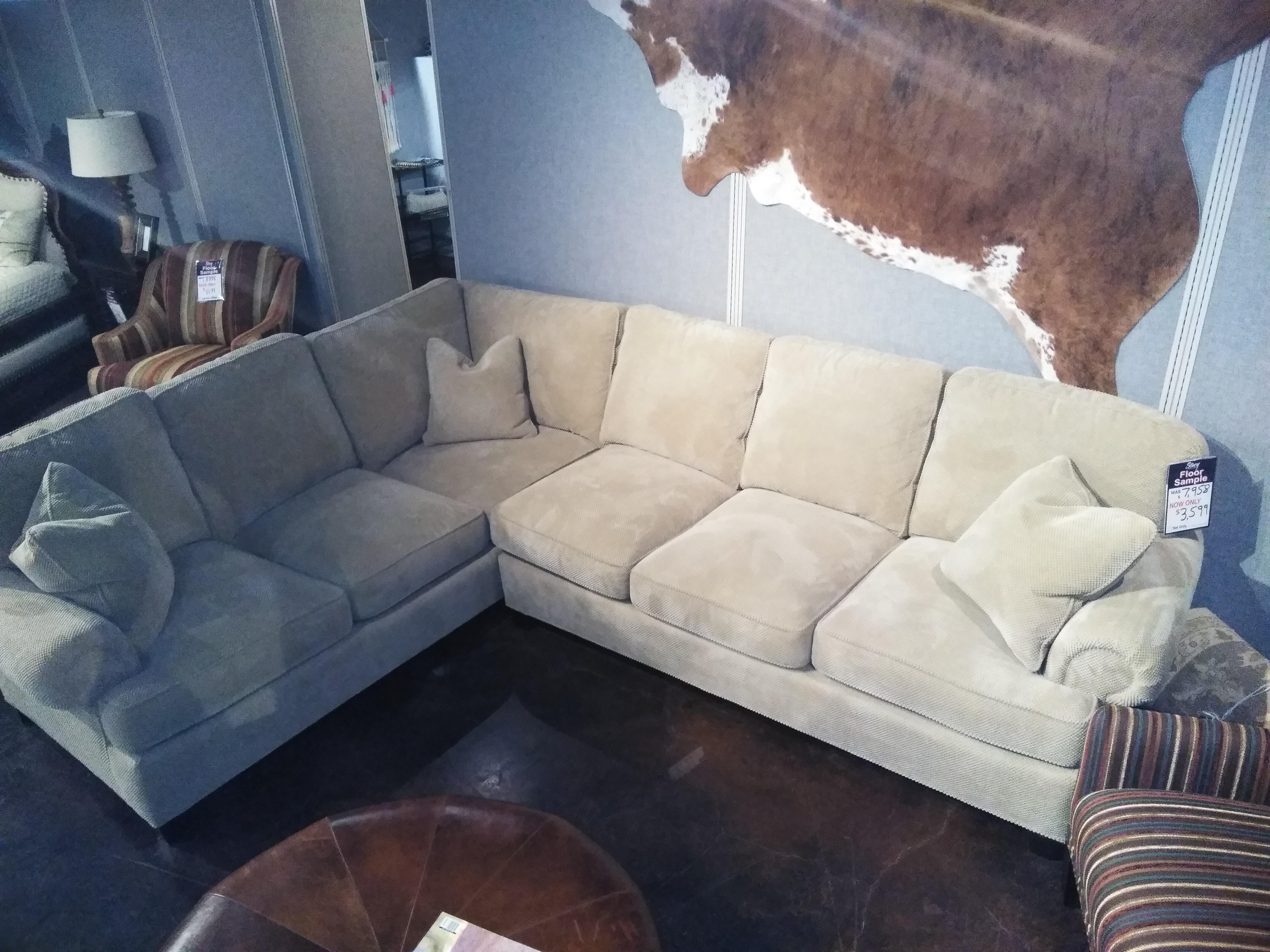 8 way hand tied sofa brands in canada slipcovers for beds uk clearance furniture stacy grapevine allen and plano sectional sect 986