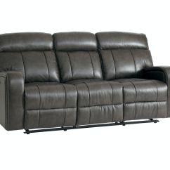 Reclining Sofa Leather Brown La Z Boy Sleeper Sofas Bassett Beaumont Power 742062 Talsma Furniture