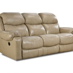 Futura Leather And Vinyl Power Reclining Sofa With Headrest In Stone Chesterfield Dfs Low Price Guaranteed 135 39 10 Double