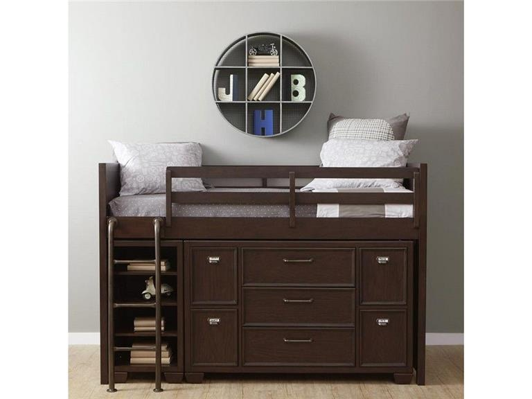 Samuel Lawrence Bedroom Includes Loft Bed Ends Rails Ladderand Slat Roll excludes Bookcase and