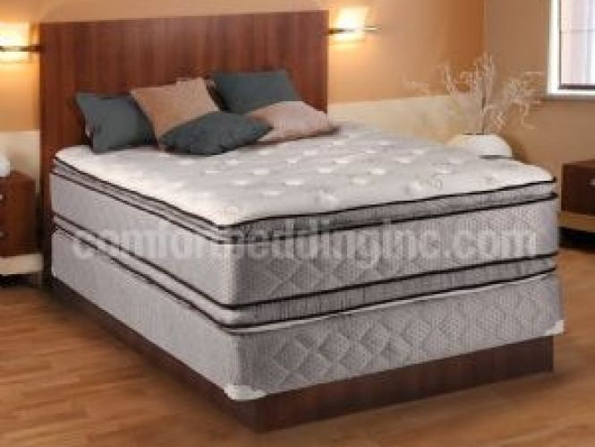 Comfortbedding Queen Size Hollywood Set Mattress And Boxspring Double Sided Pillow Top Fulholqs0