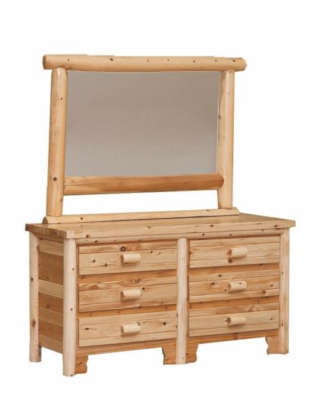 Meticulously made by skilled craftsmen from solid pine wood in a rustic finish, this. 6 drawer log dresser mirror separate