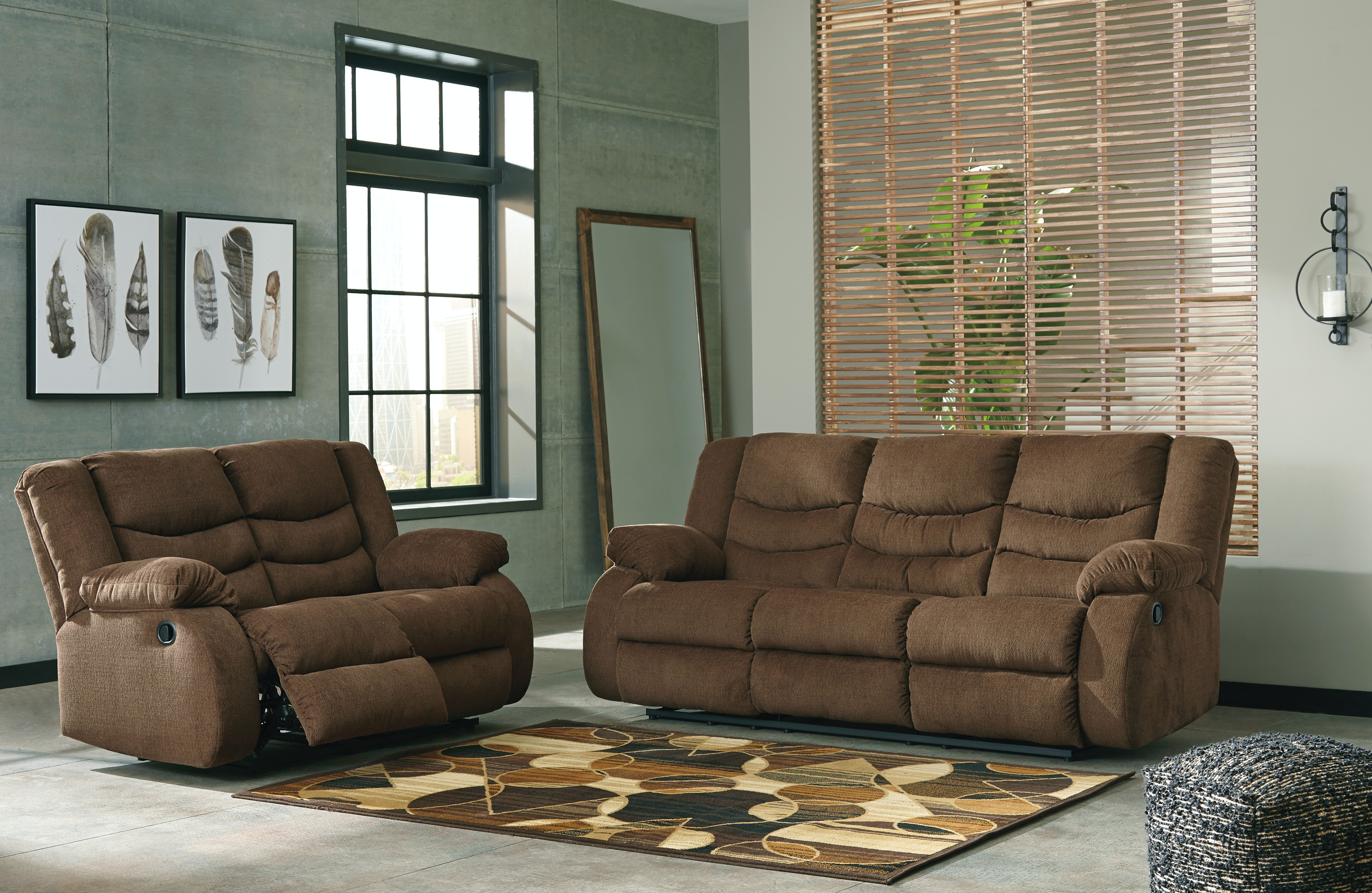 recliner living room set pictures of interior designs for signature design by ashley tulen 2pc reclining 98605st