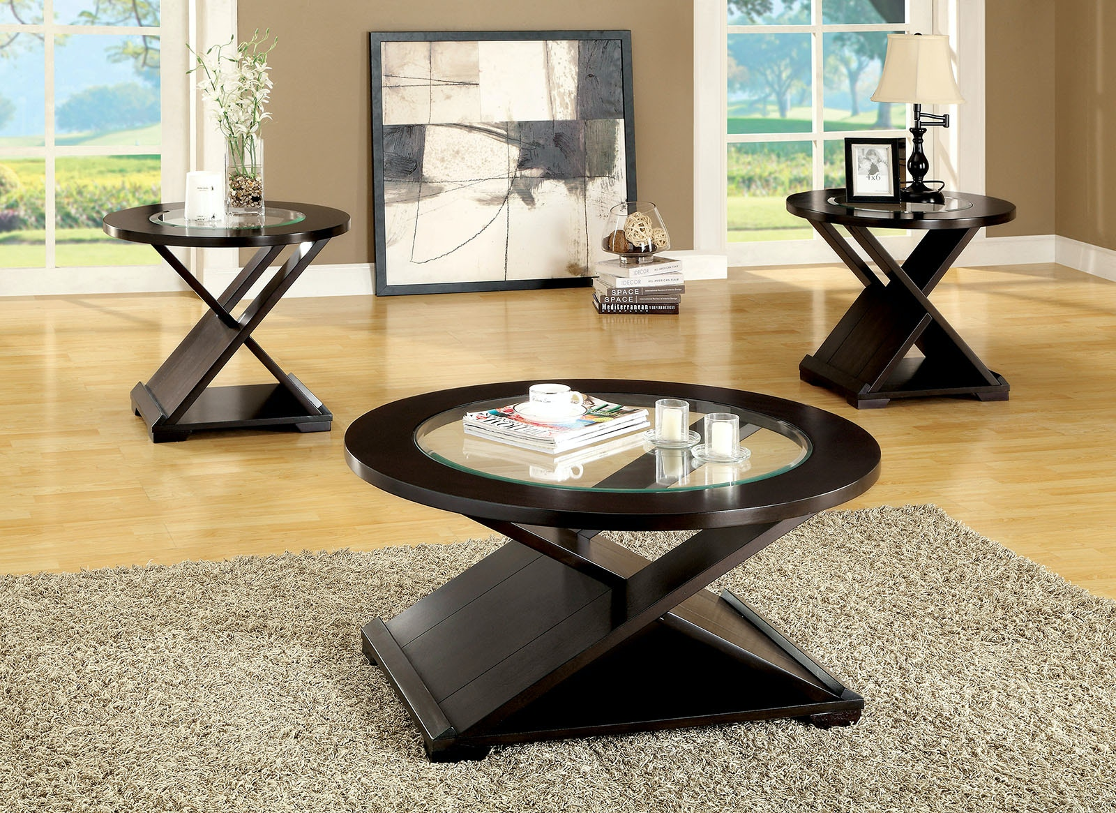 3 piece table set for living room best wall art furniture of america pc coffee 2 end cm4006 3pk at the mall