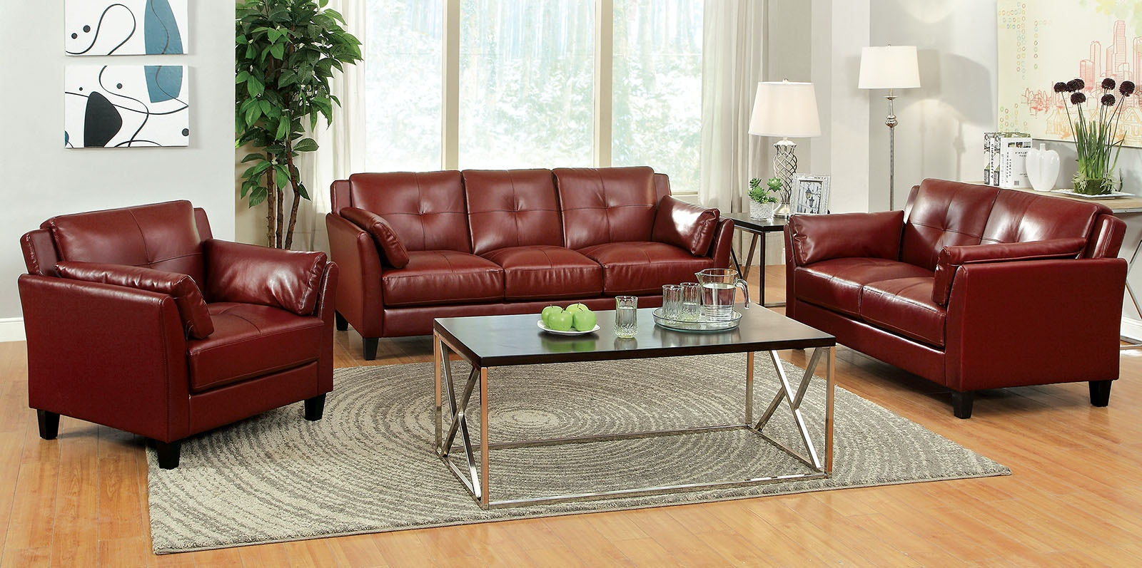 one sofa seat stickley leather furniture of america living room frame back cm6717rd sf 1 at the mall