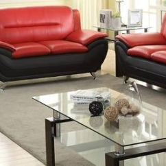 Red And Black Living Room Sets Diy Decorating Ideas Master Furniture Three Piece Set Chrome Legs 888