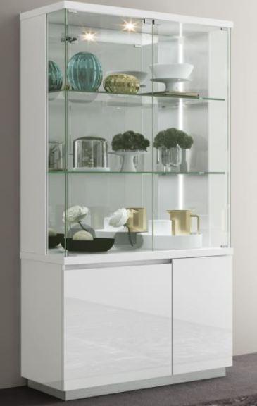 high gloss white led curio