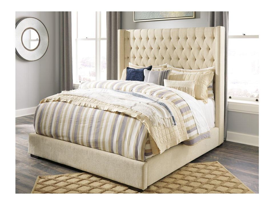 ashley norrister king upholstered bed