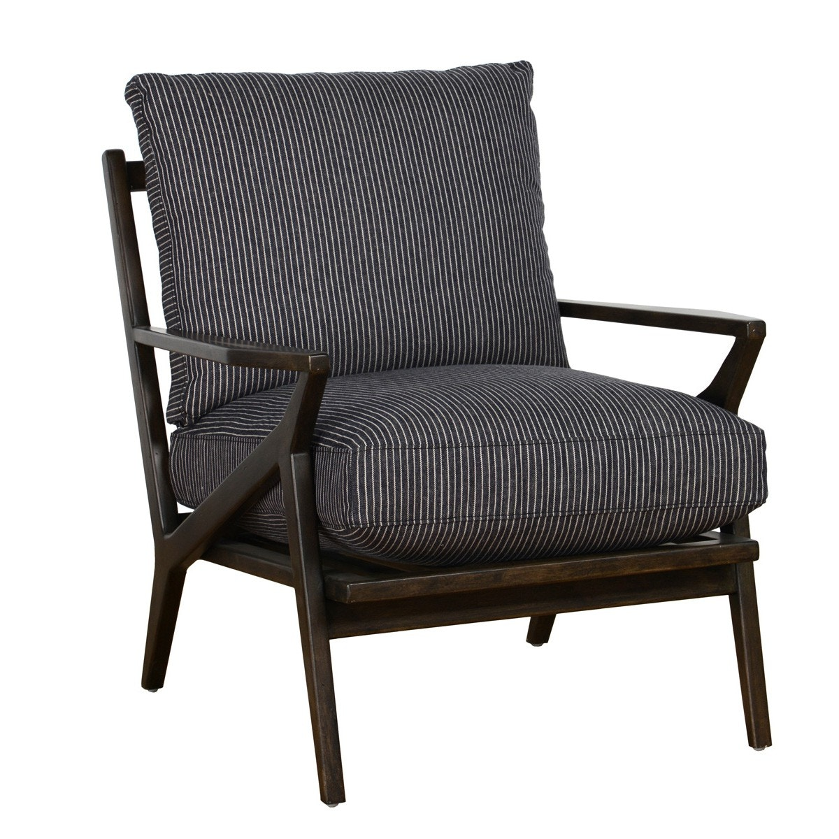 wood frame accent chairs dining chair upholstery fabric online classic home emmett striped 53004058 portland or in oregon
