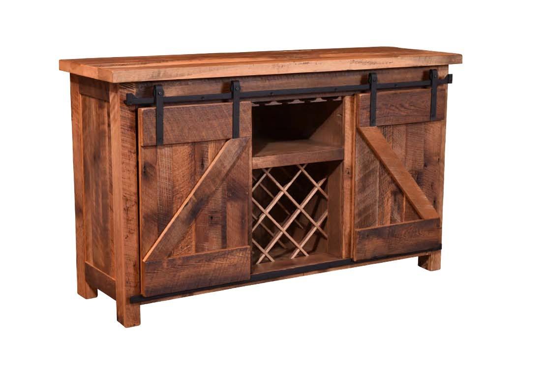 urban sofa gallery best way to repair cushions barnwood furniture dining room barn door wine server w goblet holders 211 362160g at treeforms