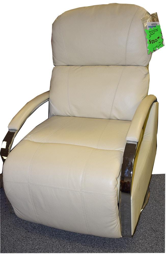 swivel chair regal natuzzi parts barcalounger living room ii recliner push thru arm w floor model as