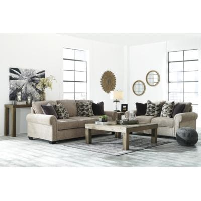 living room with loveseat and chairs ethan allen leather furniture signature design by ashley 2pc sofa set 27703 35 38 at capital discount