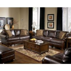 Living Room Sofa And Loveseat Sets Wood Design Signature By Ashley 2pc Leather Set 42000 35 38