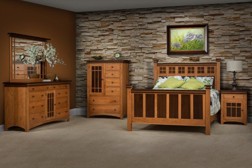 amish oak and cherry solid wood bedroom