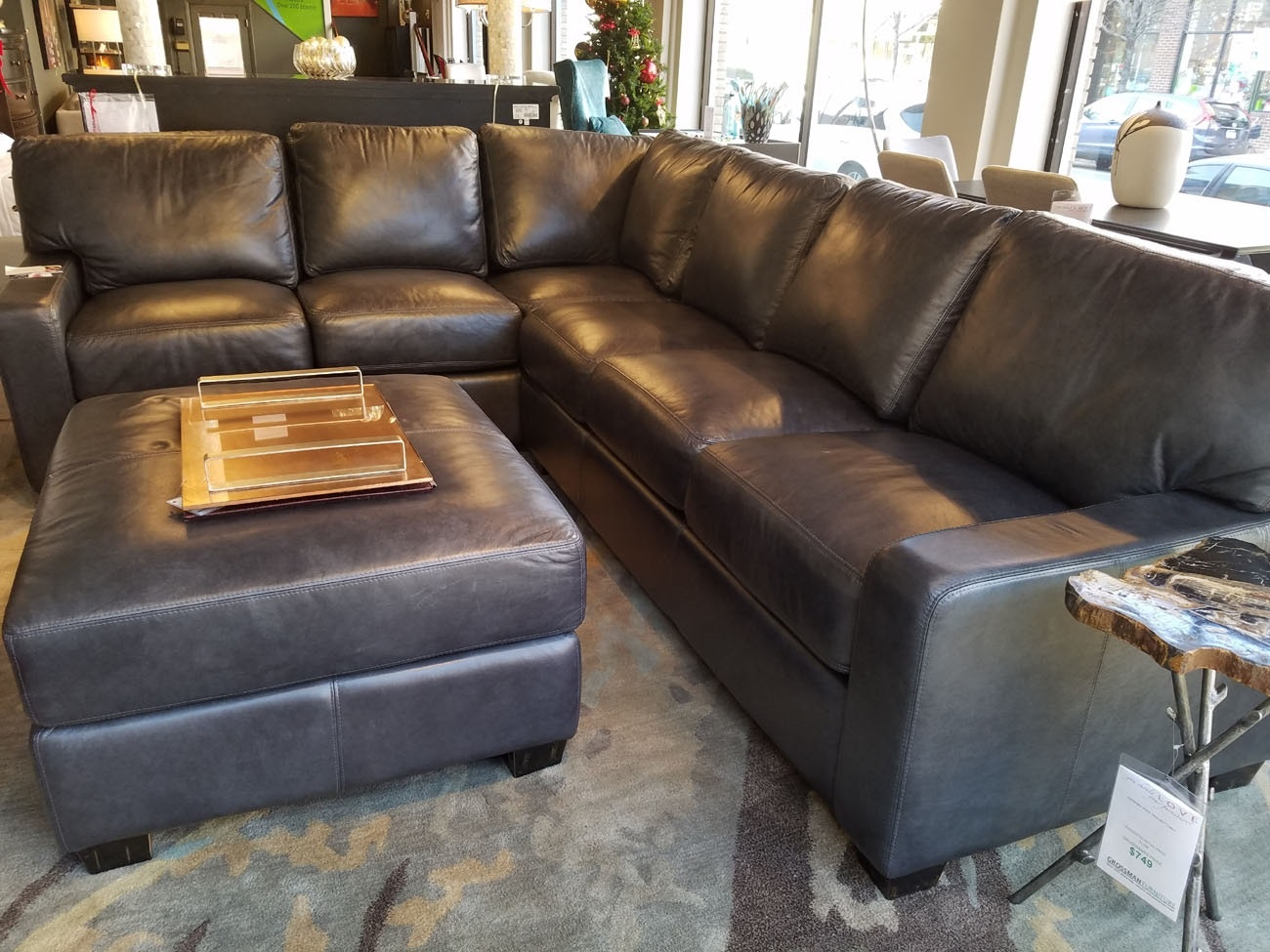 albany leather sofa west elm dunham review omnia furniture 2 piece sectional grey living room 151327 at grossman