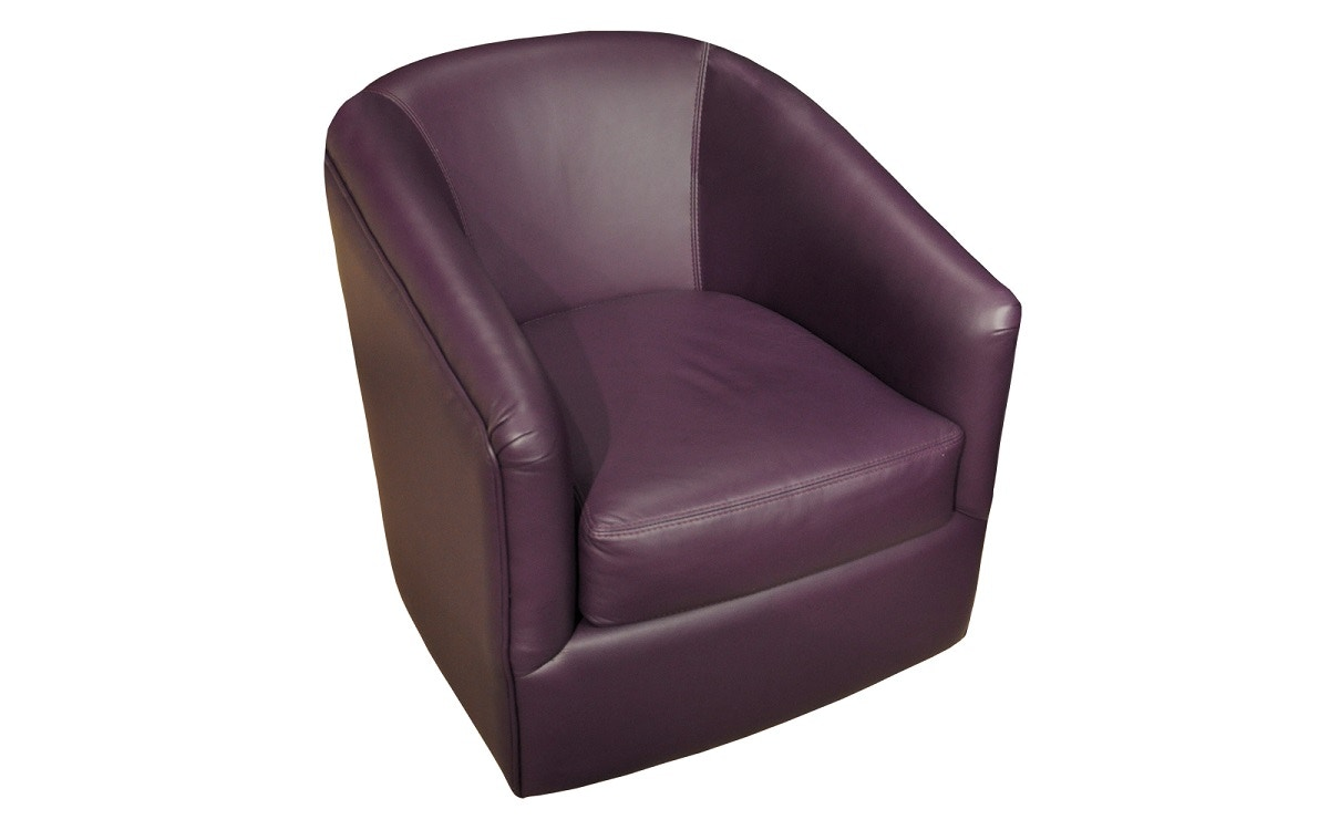 purple swivel chair mickey mouse chairs uk omnia leather bella 11005
