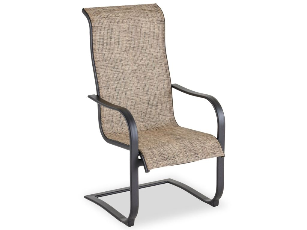 cape coral java aluminum and desert wicker spring action dining chair