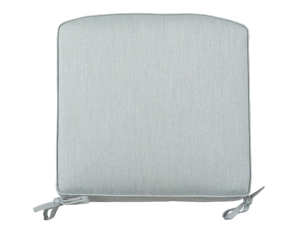 20 x 20 in cast mist sunbrella double self welt seat cushion