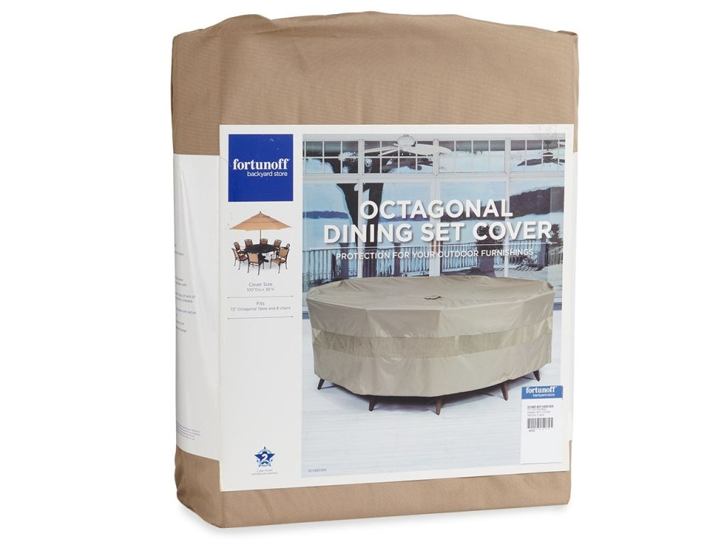 100 in octagonal dining set protective cover