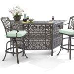 Living Room Verona Desert Bronze Cast Aluminum 3 Pc Party Set With 82 In Party Bar 2269320