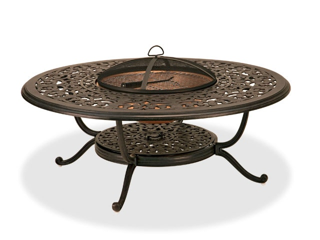 milan aged bronze cast aluminum 48 in fire pit coffee table