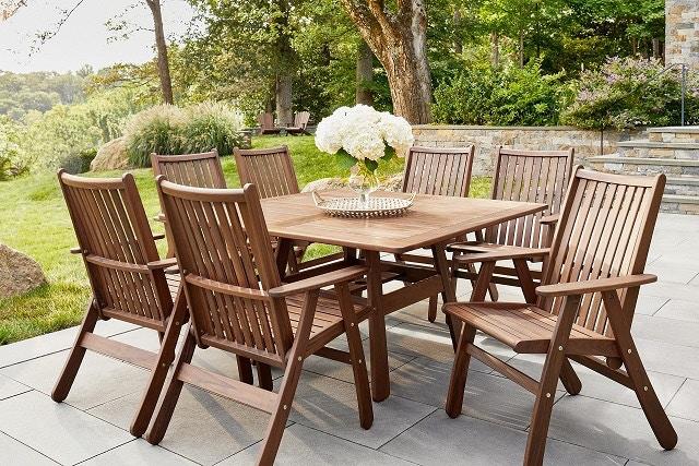 jensen outdoor classic ipe 53 beechworth square dining table 62260