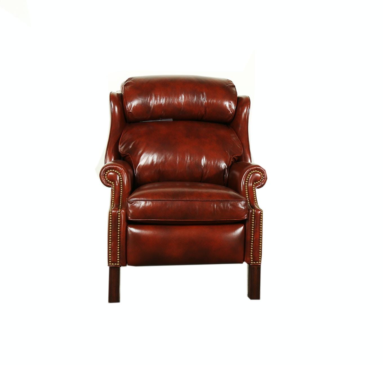 wing chair recliner leather woodbridge stock program han1021st