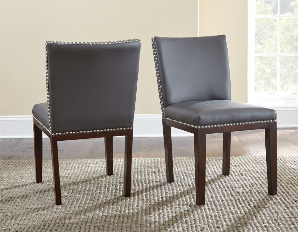 york faux leather dining chair grey