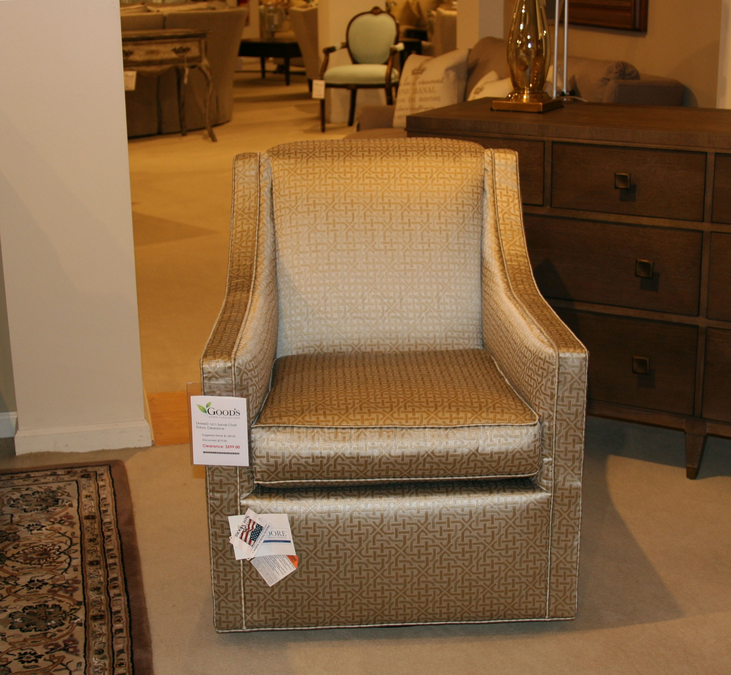 zara swivel chair glider rocking replacement cushions uk sam moore furniture 1611 clearance living room darya