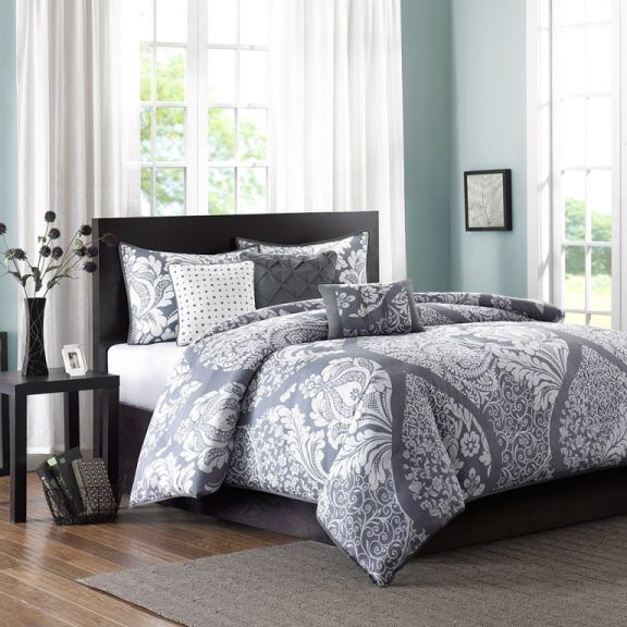 Hampton Hill Bedding MP12476 Bedroom Vienna 6 Piece