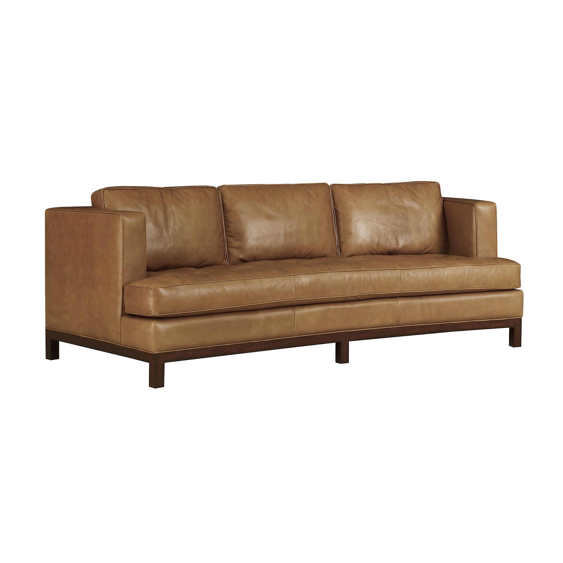 henredon sofa leather restoration sectional luxury furniture in san go orange