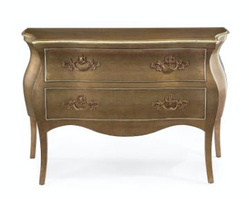 John Richard Bedroom Bombe Chest WMetalic Finish EUR 01 0103