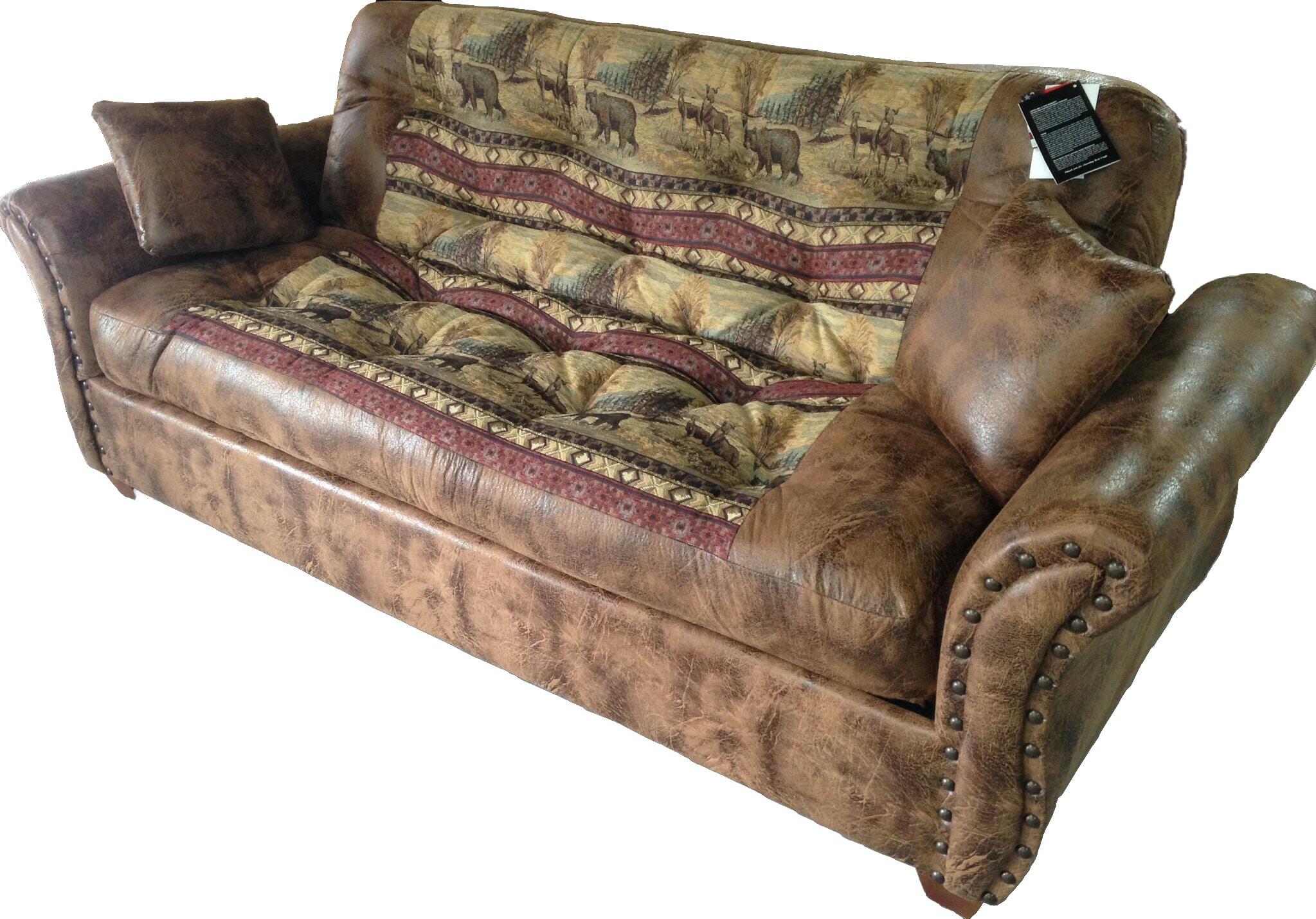 tampa futon sofa bed mackenzie dog rustic