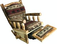 Rustic Log Furniture Living Room Rustic Rocker Recliner ...