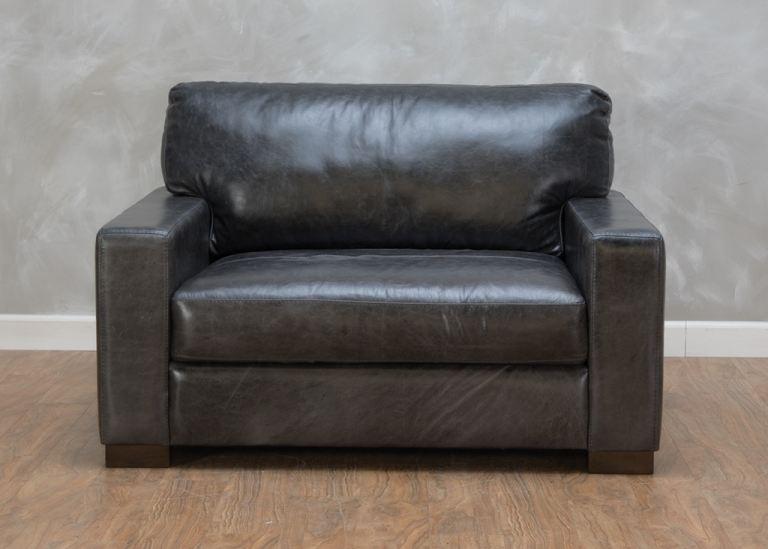 Bella Casa Living Room Ravel Leather Maxi Chair 555661