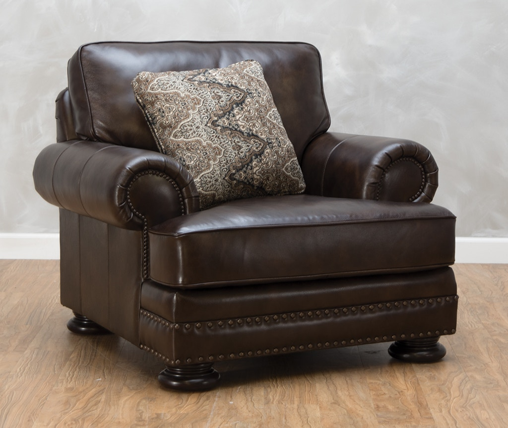 bernhardt brown leather club chair posture for elderly living room foster 540522 kittle s