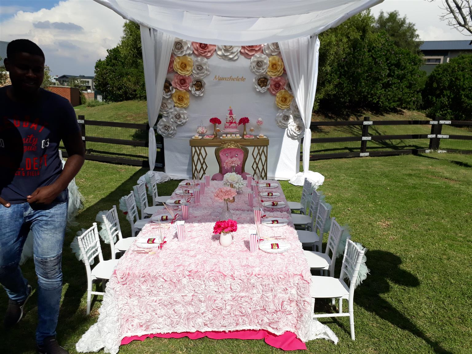 kiddies chair covers for hire cape town table and cover perth parties paper backdrops flowers sales