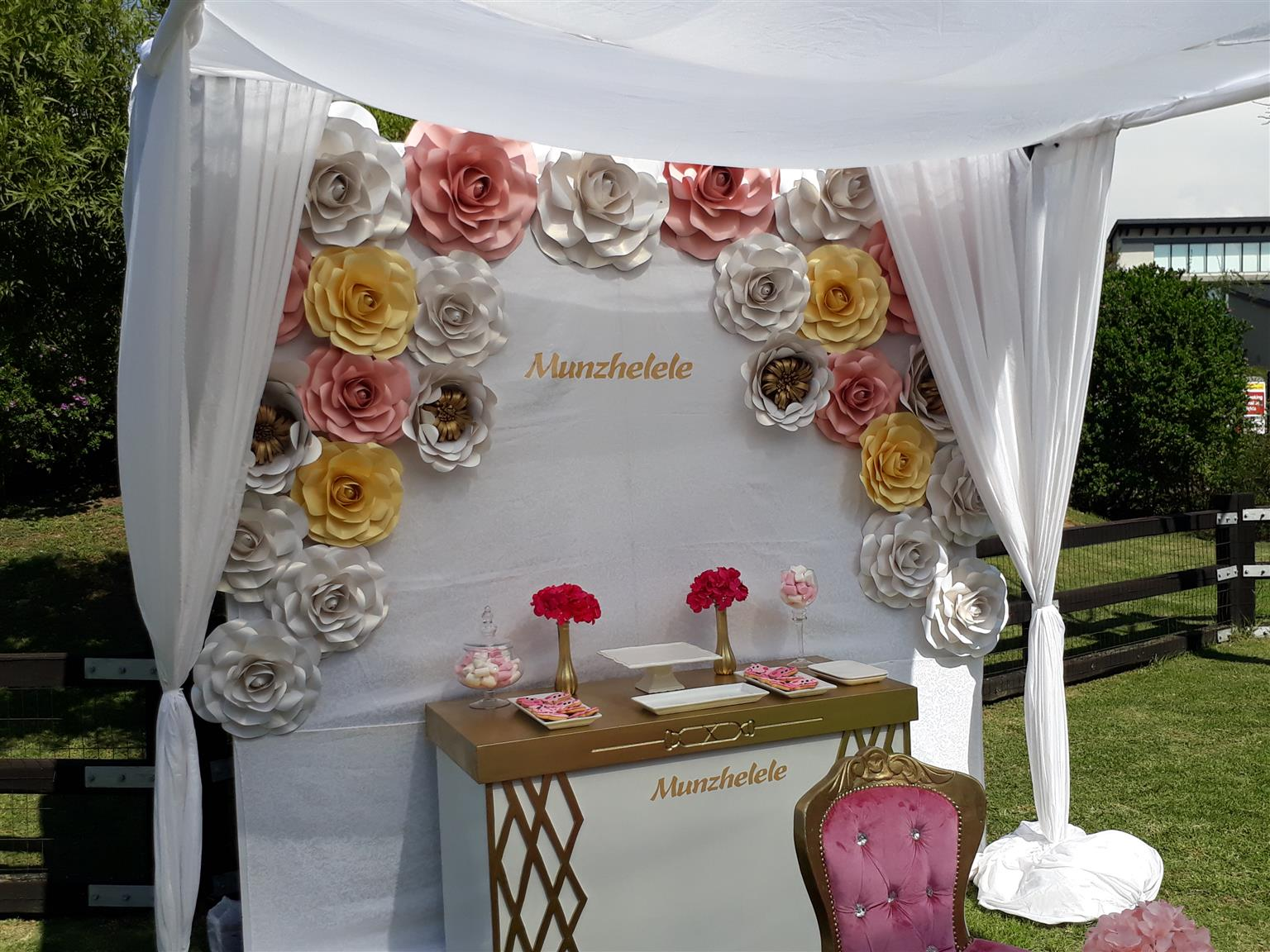 kiddies chair covers for hire cape town devon nz parties paper backdrops flowers sales and
