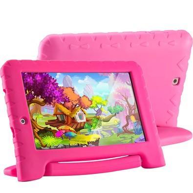 Tablet Multilaser Kid Pad Plus, 8GB, Quad Core, Android 7, Wi-Fi, Tela 7´, Rosa - NB279