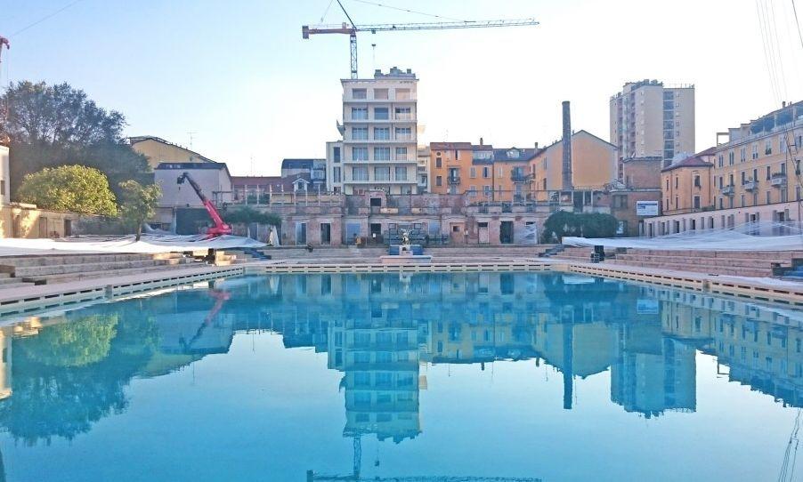 Riapre la piscina Caimi e di notte diventer un teatro  Corriereit