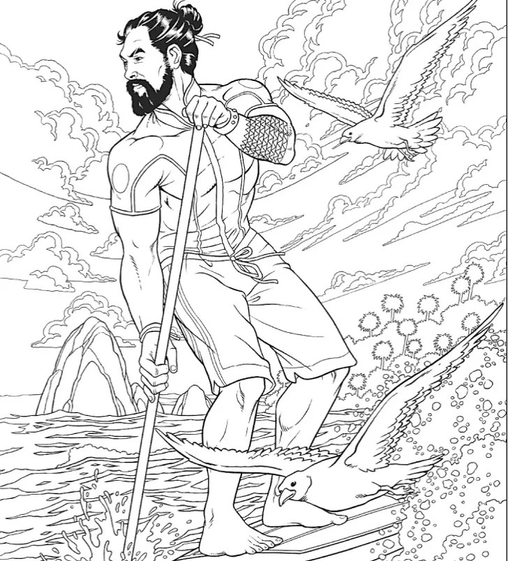 A Jason Momoa coloring book exists