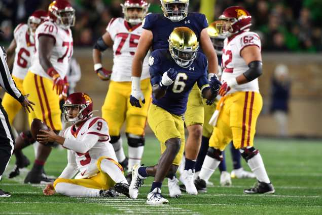 Notre Dame Football: JOK would make Cleveland Browns defense scary