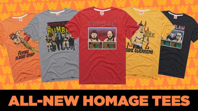 Check out these amazing throwback Homage WWE t-shirts